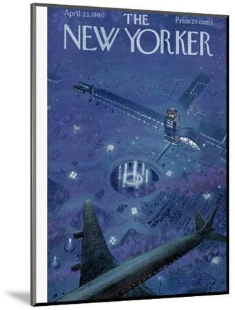 The New Yorker Cover - April 23, 1960-Garrett Price-Mounted Premium Giclee Print