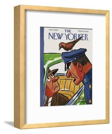 The New Yorker Cover - June 4, 1960-Peter Arno-Framed Premium Giclee Print