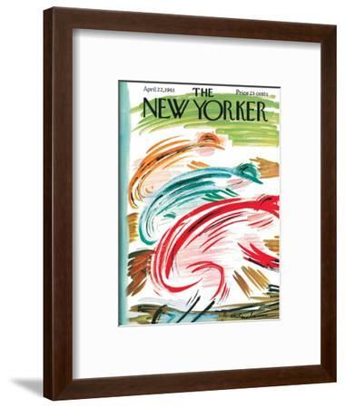 The New Yorker Cover - April 22, 1961-Abe Birnbaum-Framed Premium Giclee Print