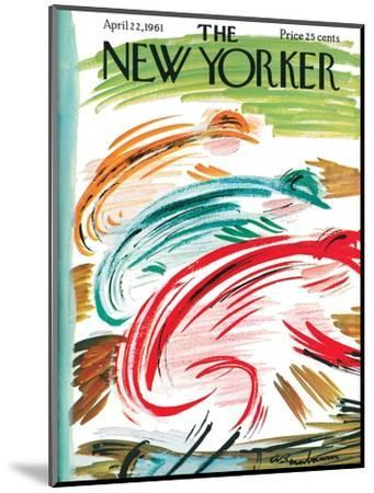 The New Yorker Cover - April 22, 1961-Abe Birnbaum-Mounted Premium Giclee Print