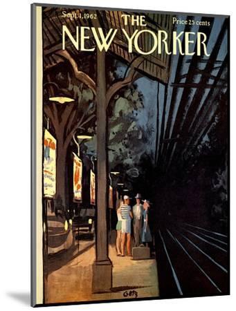 The New Yorker Cover - September 1, 1962-Arthur Getz-Mounted Premium Giclee Print