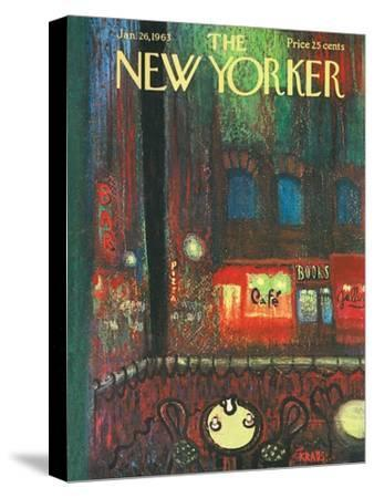 The New Yorker Cover - January 26, 1963-Robert Kraus-Stretched Canvas Print