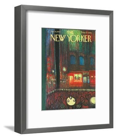 The New Yorker Cover - January 26, 1963-Robert Kraus-Framed Premium Giclee Print
