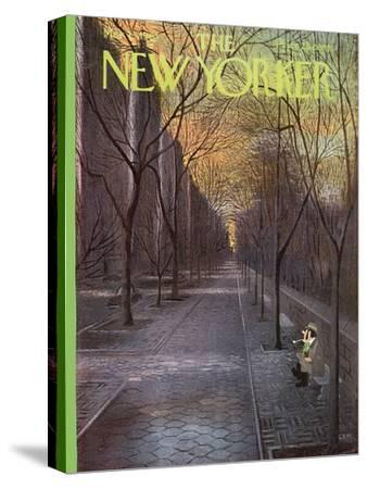 The New Yorker Cover - March 13, 1965-Charles E. Martin-Stretched Canvas Print