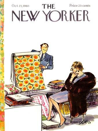 The New Yorker Cover - October 23, 1965-Charles Saxon-Framed Premium Giclee Print
