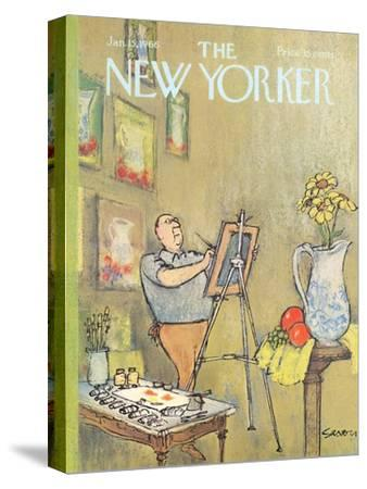 The New Yorker Cover - January 15, 1966-Charles Saxon-Stretched Canvas Print