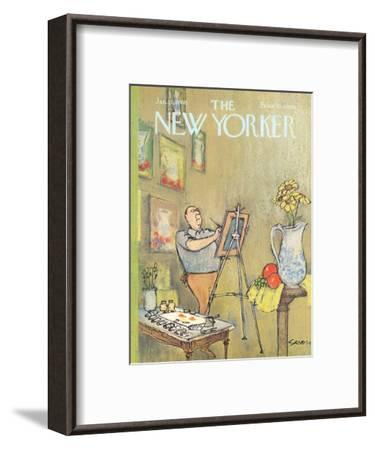 The New Yorker Cover - January 15, 1966-Charles Saxon-Framed Premium Giclee Print