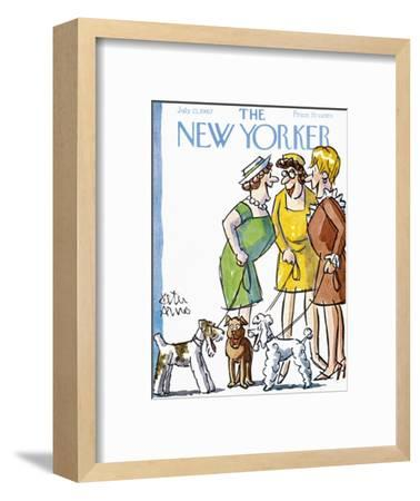 The New Yorker Cover - July 22, 1967-Peter Arno-Framed Premium Giclee Print