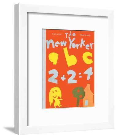 The New Yorker Cover - September 6, 1969-James Stevenson-Framed Premium Giclee Print