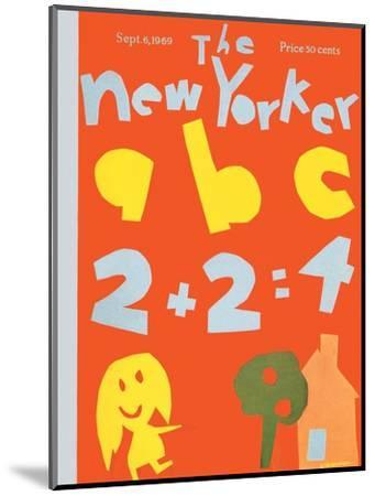 The New Yorker Cover - September 6, 1969-James Stevenson-Mounted Premium Giclee Print