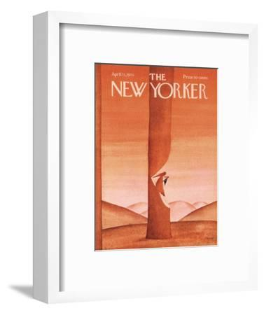The New Yorker Cover - April 11, 1970-Jean Michel Folon-Framed Premium Giclee Print