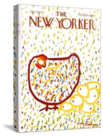The New Yorker Cover - July 10, 1971-Andre Francois-Stretched Canvas Print