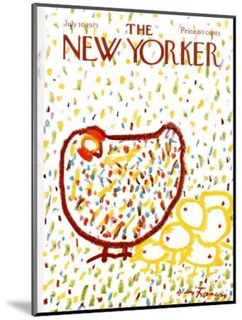 The New Yorker Cover - July 10, 1971-Andre Francois-Mounted Premium Giclee Print