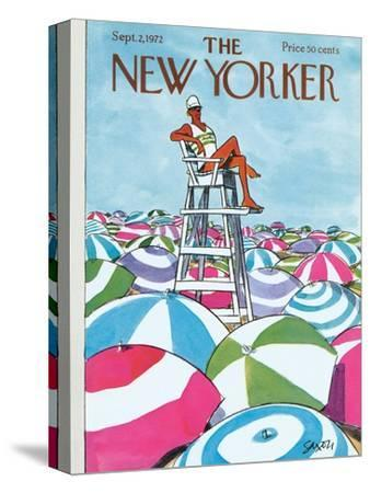 The New Yorker Cover - September 2, 1972-Charles Saxon-Stretched Canvas Print