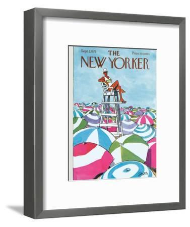 The New Yorker Cover - September 2, 1972-Charles Saxon-Framed Premium Giclee Print