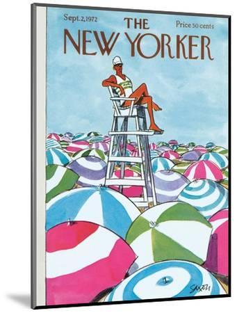 The New Yorker Cover - September 2, 1972-Charles Saxon-Mounted Premium Giclee Print