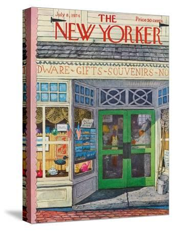 The New Yorker Cover - July 8, 1974-Albert Hubbell-Stretched Canvas Print