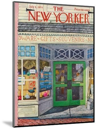 The New Yorker Cover - July 8, 1974-Albert Hubbell-Mounted Premium Giclee Print