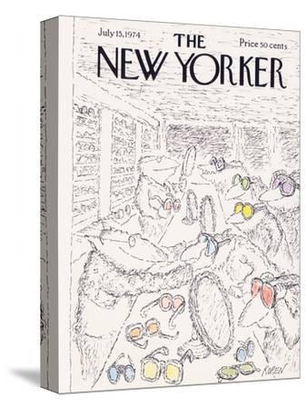 The New Yorker Cover - July 15, 1974-Edward Koren-Stretched Canvas Print