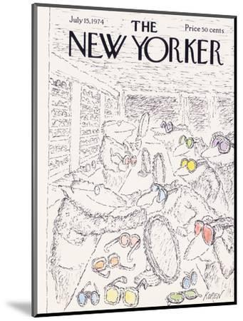 The New Yorker Cover - July 15, 1974-Edward Koren-Mounted Premium Giclee Print