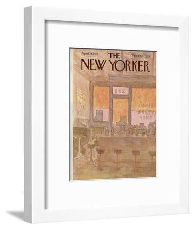The New Yorker Cover - April 28, 1975-James Stevenson-Framed Premium Giclee Print