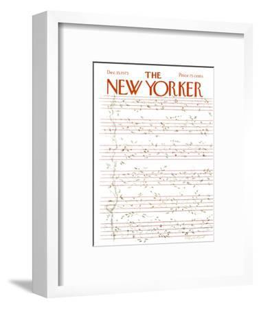 The New Yorker Cover - December 15, 1975-James Stevenson-Framed Premium Giclee Print