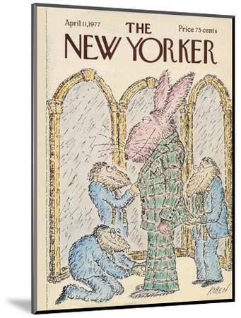 The New Yorker Cover - April 11, 1977-Edward Koren-Mounted Premium Giclee Print