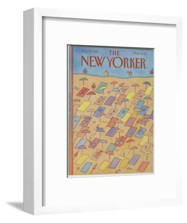 The New Yorker Cover - August 16, 1982-Lonni Sue Johnson-Framed Premium Giclee Print