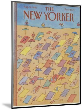 The New Yorker Cover - August 16, 1982-Lonni Sue Johnson-Mounted Premium Giclee Print