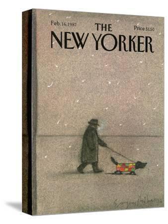 The New Yorker Cover - February 16, 1987-Eug?ne Mihaesco-Stretched Canvas Print
