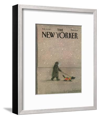 The New Yorker Cover - February 16, 1987-Eug?ne Mihaesco-Framed Premium Giclee Print
