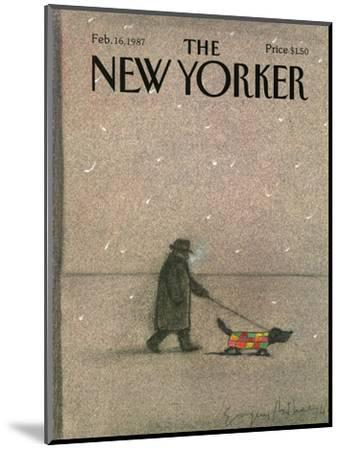 The New Yorker Cover - February 16, 1987-Eug?ne Mihaesco-Mounted Premium Giclee Print