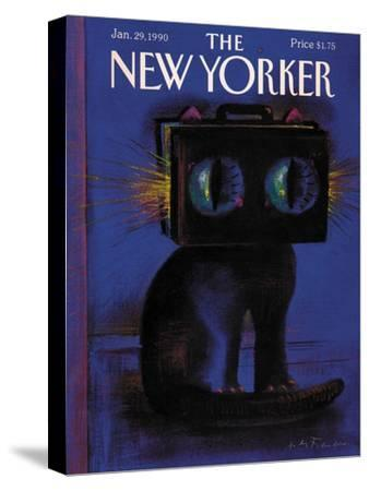 The New Yorker Cover - January 29, 1990-Andre Francois-Stretched Canvas Print