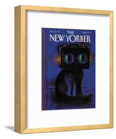 The New Yorker Cover - January 29, 1990-Andre Francois-Framed Premium Giclee Print