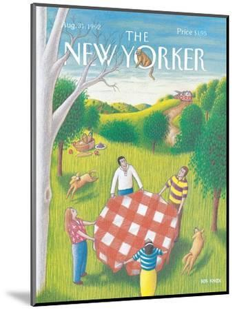 The New Yorker Cover - August 31, 1992-Bob Knox-Mounted Premium Giclee Print