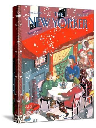 The New Yorker Cover - January 17, 1994-Kathy Osborn-Stretched Canvas Print