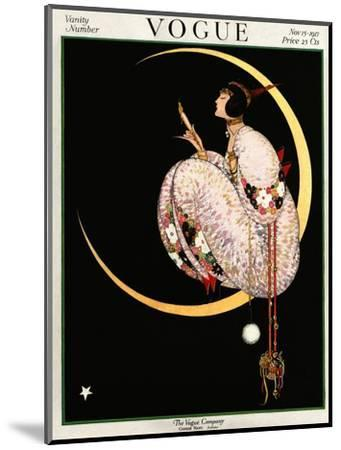 Vogue Cover - November 1917 - Moon and Mirror-George Wolfe Plank-Mounted Premium Giclee Print