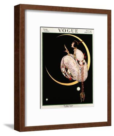 Vogue Cover - November 1917 - Moon and Mirror-George Wolfe Plank-Framed Premium Giclee Print