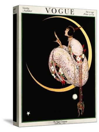 Vogue Cover - November 1917 - Moon and Mirror-George Wolfe Plank-Stretched Canvas Print