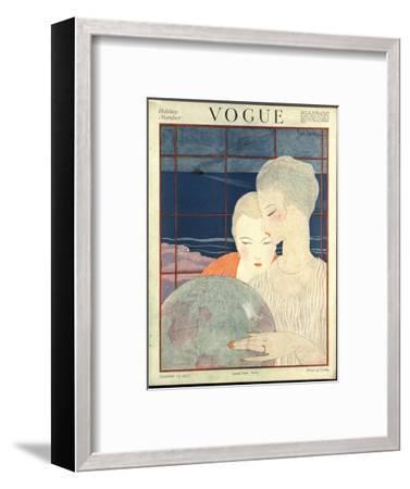 Vogue Cover - December 1917-Georges Lepape-Framed Premium Giclee Print