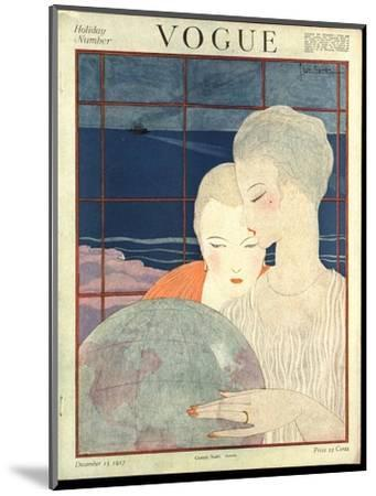 Vogue Cover - December 1917-Georges Lepape-Mounted Premium Giclee Print