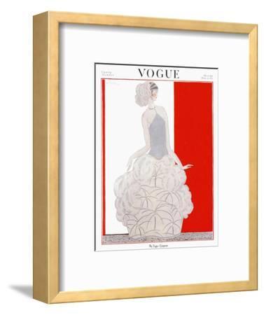 Vogue Cover - November 1922-Georges Lepape-Framed Premium Giclee Print