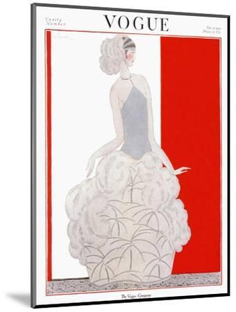 Vogue Cover - November 1922-Georges Lepape-Mounted Premium Giclee Print