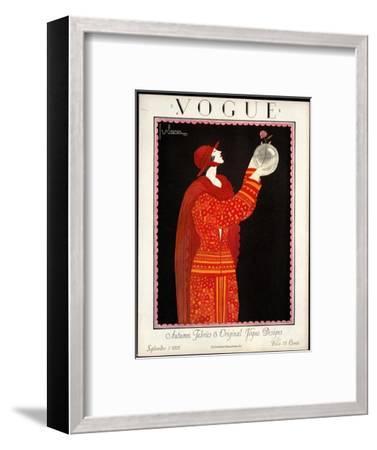 Vogue Cover - September 1923-Georges Lepape-Framed Premium Giclee Print