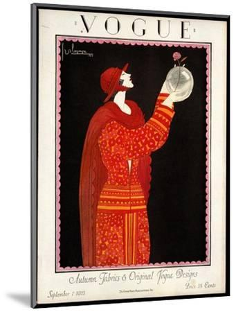 Vogue Cover - September 1923-Georges Lepape-Mounted Premium Giclee Print
