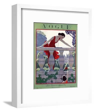 Vogue Cover - May 1924-Andr? E. Marty-Framed Premium Giclee Print