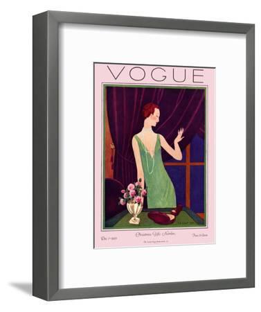 Vogue Cover - December 1925-Pierre Brissaud-Framed Premium Giclee Print