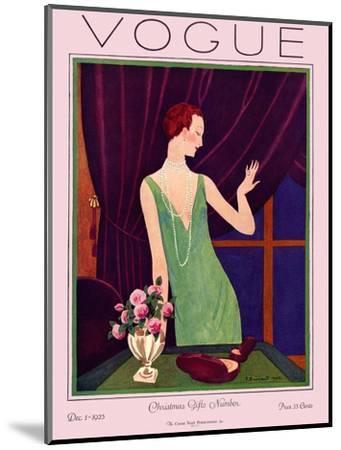 Vogue Cover - December 1925-Pierre Brissaud-Mounted Premium Giclee Print