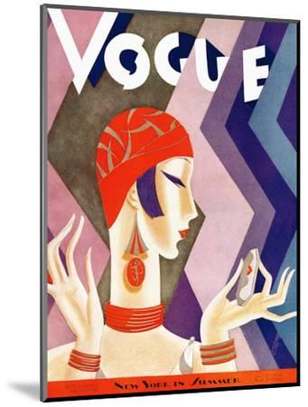 Vogue Cover - July 1926 - Fashion Zig Zag-Eduardo Garcia Benito-Mounted Premium Giclee Print