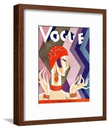 Vogue Cover - July 1926-Eduardo Garcia Benito-Framed Premium Giclee Print